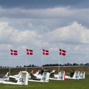 Deense Nationals vlaggen