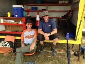 Arne and Steve Wallace in Kingaroy