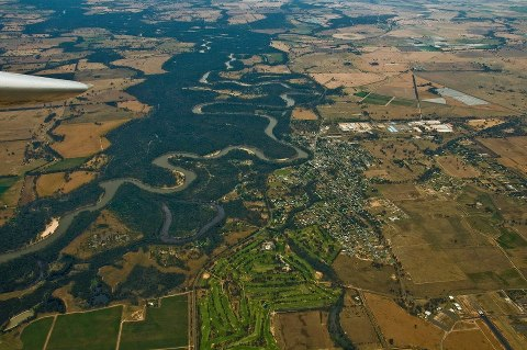 Tocumwal from the air